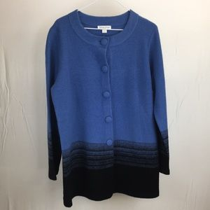 Pendleton Large Blue/Black Cardigan Sweater NWT